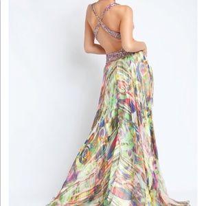 Multicolored Jovani Prom Evening Dress Size 2